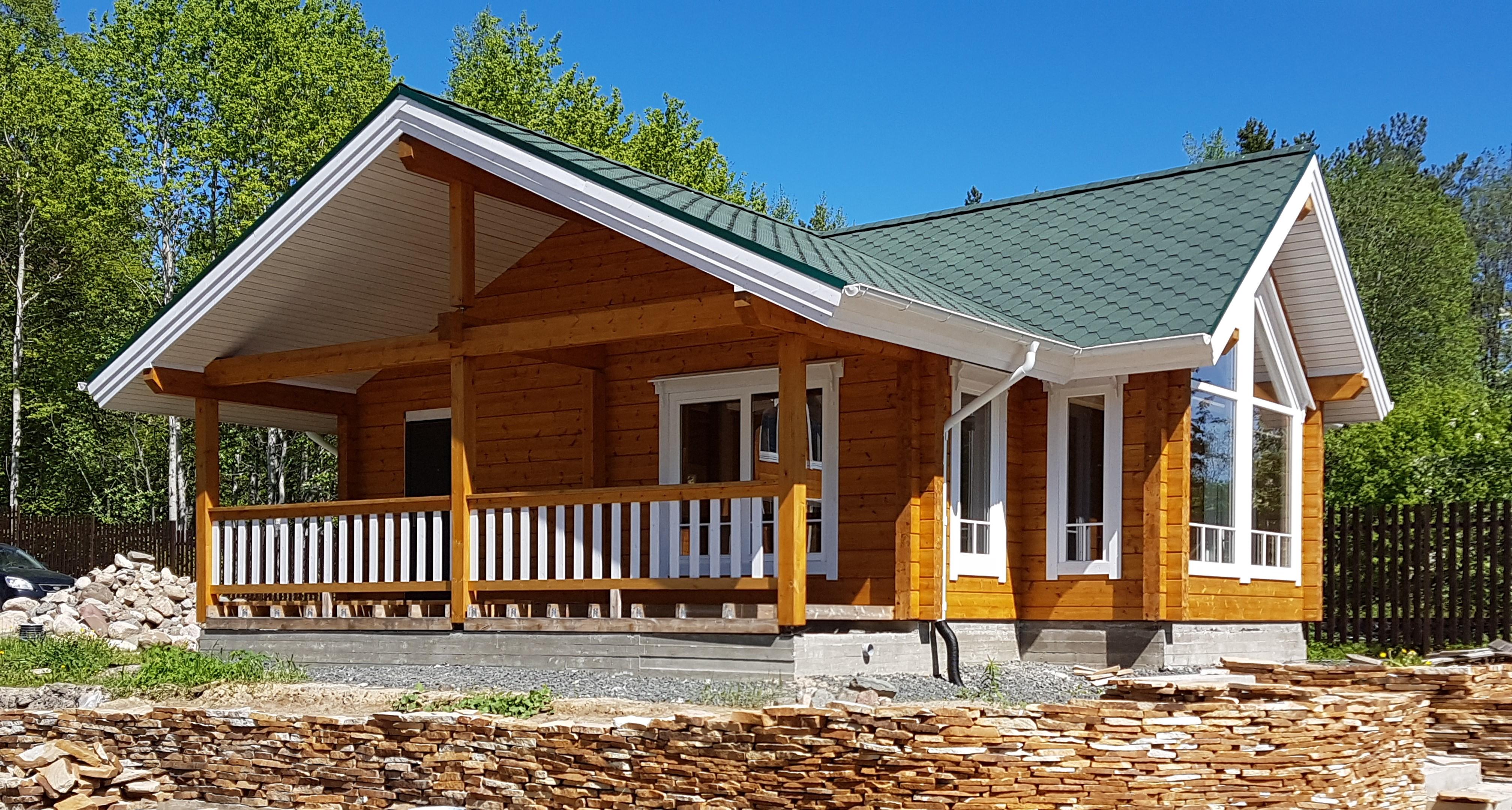 Строительство дома из клееного бруса под ключ цена
